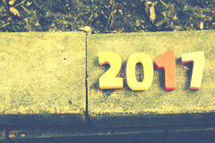 Wooden number of 2017 for new year celebrations Stock Image