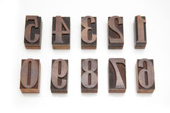 Wooden number stamps Stock Image