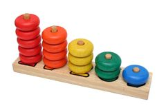 Wooden number toy Royalty Free Stock Photography