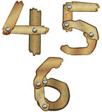 Wooden numbers. Numbers made of wooden planks Stock Photo