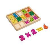 Wooden numbers Royalty Free Stock Photos