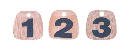 Wooden numbers. For calendar Royalty Free Stock Photos