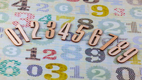Wooden numbers Stock Photography