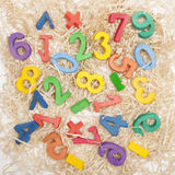 Wooden numbers Stock Images
