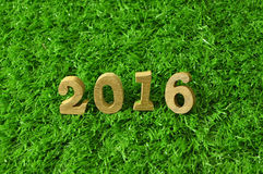 2016 wooden numbers style Stock Photos