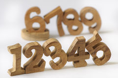 WOODEN NUMBERS STYLE Stock Image