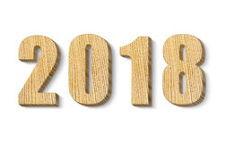 2018 wooden numbers Royalty Free Stock Image