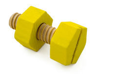Wooden nut and bolt Stock Images