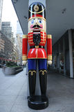 Wooden Nutcracker Christmas decoration in Midtown Manhattan Stock Photography
