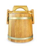 Wooden oak barrel Royalty Free Stock Images