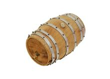 Wooden oak barrel Stock Images