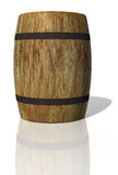 Wooden oak barrel. 3D render Stock Photo