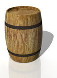 Wooden oak barrel. 3D render Royalty Free Stock Image