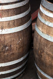Wooden oak barrels Stock Photography