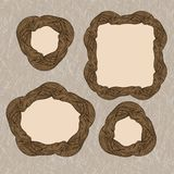 Wooden oak frames Royalty Free Stock Photography