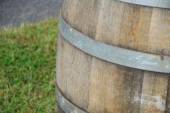 Wooden Oak Wine Barrel Stock Images