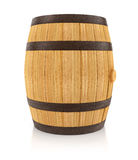 Wooden oaken barrel for beverages storing Stock Image