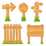 Wooden objects Stock Image