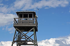 Wooden observation tower at beach Royalty Free Stock Photography