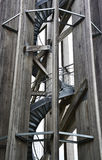 Wooden observation tower. Royalty Free Stock Photo