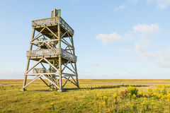 Wooden observation tower from close Stock Images