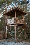 Wooden observation tower Stock Photo