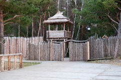 Wooden observation tower Royalty Free Stock Photo