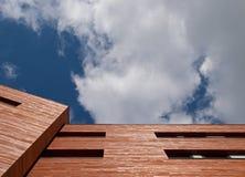 Wooden Office Facade Stock Photo