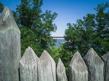 90-Wooden ogrodzenie zdjęcie stock