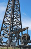 Wooden oil rig. Stock Images
