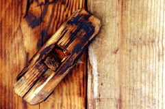 Wooden old, antique lock Royalty Free Stock Photography