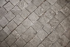 Wooden old block texture with cracks. Royalty Free Stock Photo