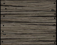 Wooden old board. Old gray rough horizontal wooden board texture background in grunge style Stock Photography