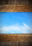 Wooden old boards and sky Royalty Free Stock Images