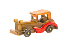 Wooden Old Car Model Isolated Royalty Free Stock Photos