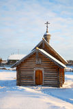 Wooden old chapel. Royalty Free Stock Photo