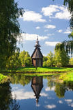 Wooden old church in park Royalty Free Stock Image