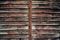 Wooden old door background / texture. stock illustration