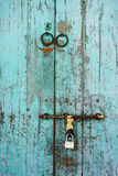 Wooden old door at George Town in Penang, Malaysia Royalty Free Stock Photos