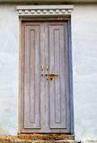 Wooden old door of house Stock Images
