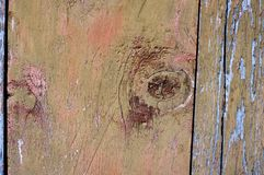 Wooden old door with a lock. Background royalty free stock photography