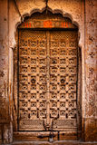 Wooden old door vintage background Stock Photo
