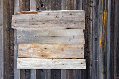 Wooden old empty bulletin board Royalty Free Stock Photography