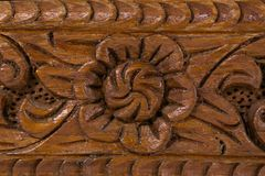 Wooden old fashion. Small box Royalty Free Stock Images