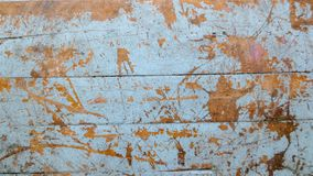 Wooden old grunge skyblue of table. At thailand school, old table background texture royalty free stock image