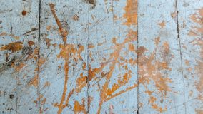 Wooden old grunge skyblue of table. At thailand school, old table background texture stock image