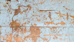 Wooden old grunge skyblue of table. At thailand school, old table background texture stock photos