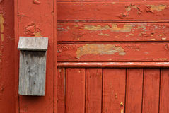 Wooden old mailbox Stock Images