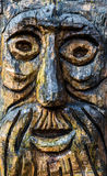 Wooden Old Man Face Carving Royalty Free Stock Photo