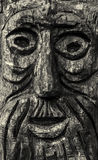 Wooden Old Man Face Carving Stock Photos